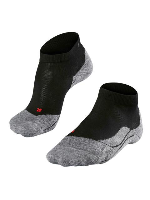 Falke RU4 Short Hardloopsokken Heren grijs/zwart